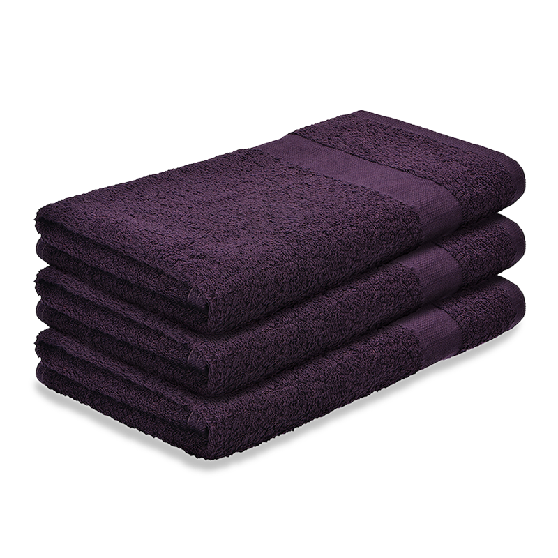 16x28 Bleach Proof Salon Hand Towels Eggplant Priced Per Dozen